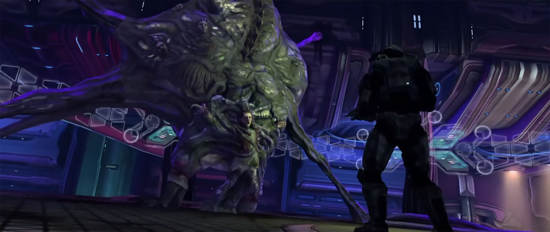 Keyes and the Flood in Halo.