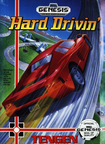 The cover art of Hard Drivin'.