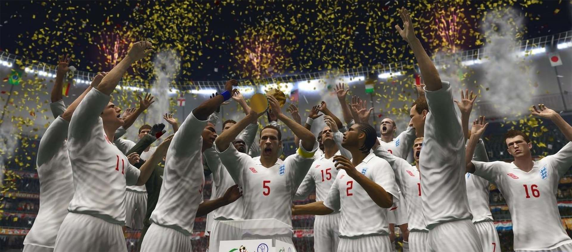 England lift the 2010 FIFA World Cup South Africa.