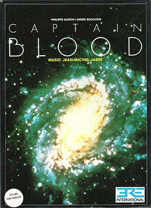 The cover art to 1988's Captain Blood.