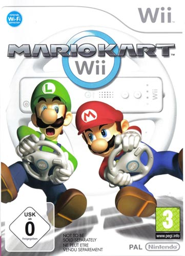 The cover art for the PAL version of Mario Kart Wii.