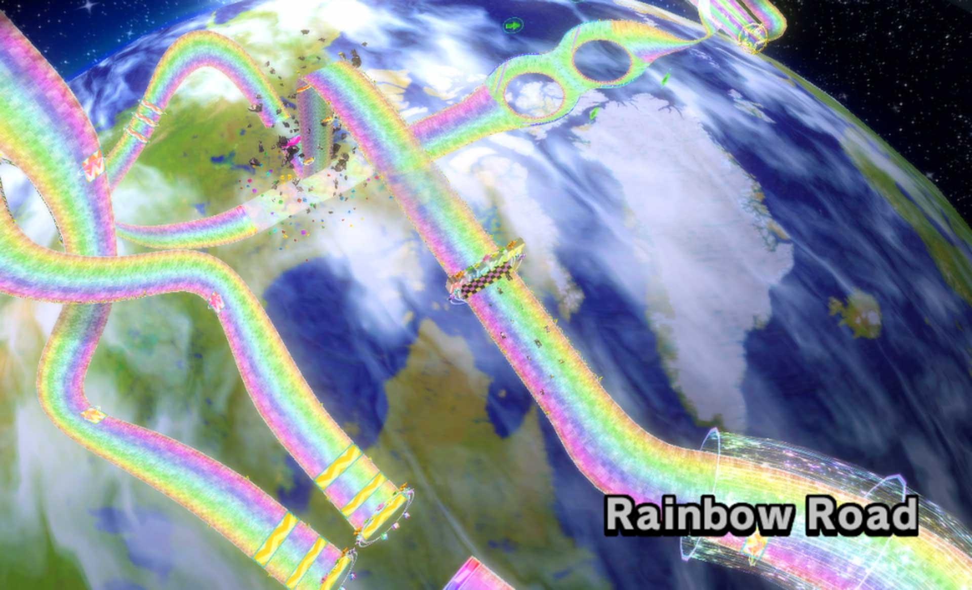 Mario Kart Wii's Rainbow Road.