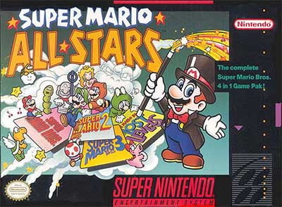 The box art for Super Mario All-Stars.