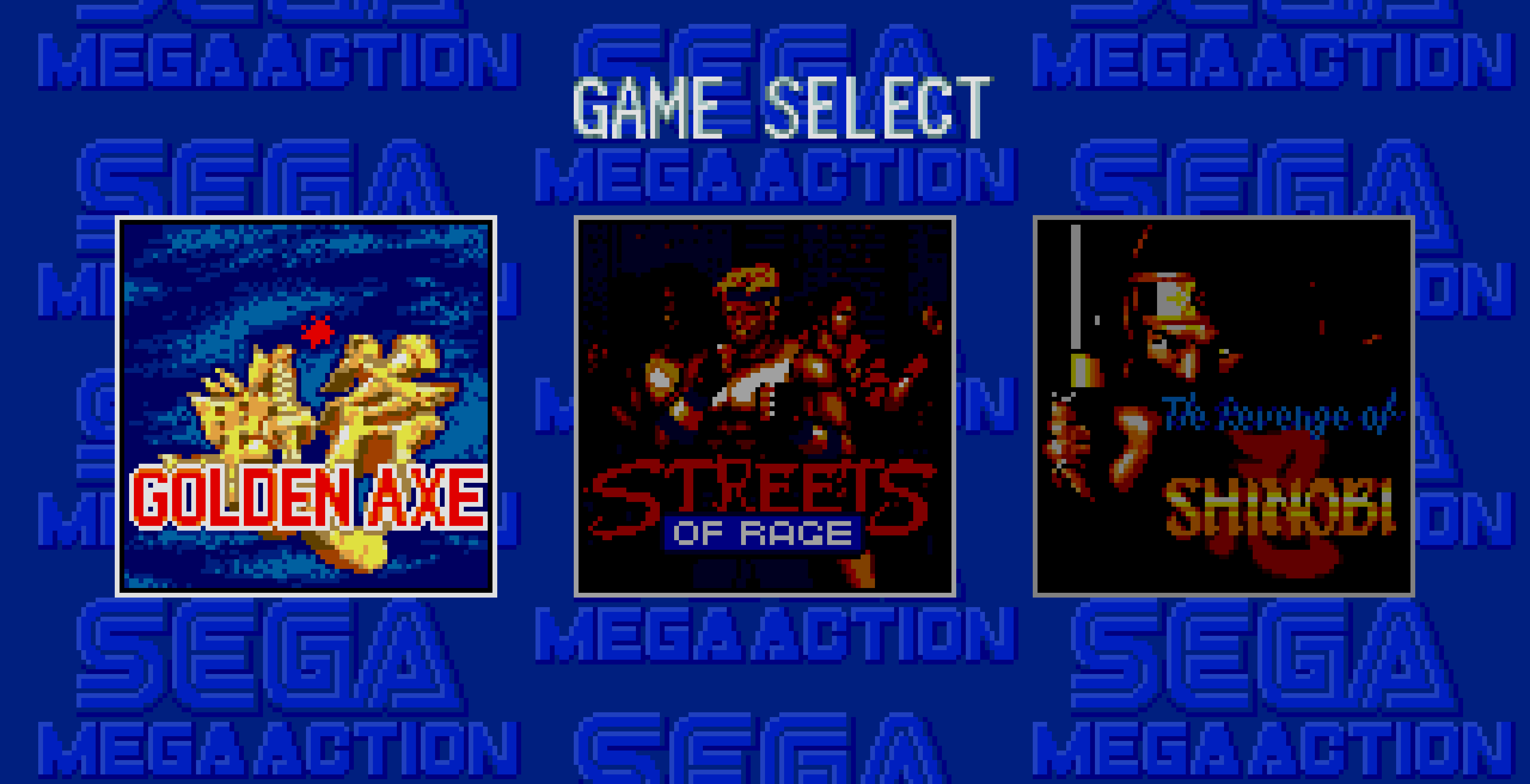 Golden Axe on the Mega Games 2 title screen.