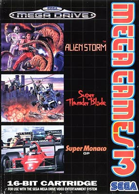 The cover of Mega Games 3, which featured Alien Storm.