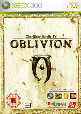 The cover art for The Elder Scrolls IV: Oblivion.