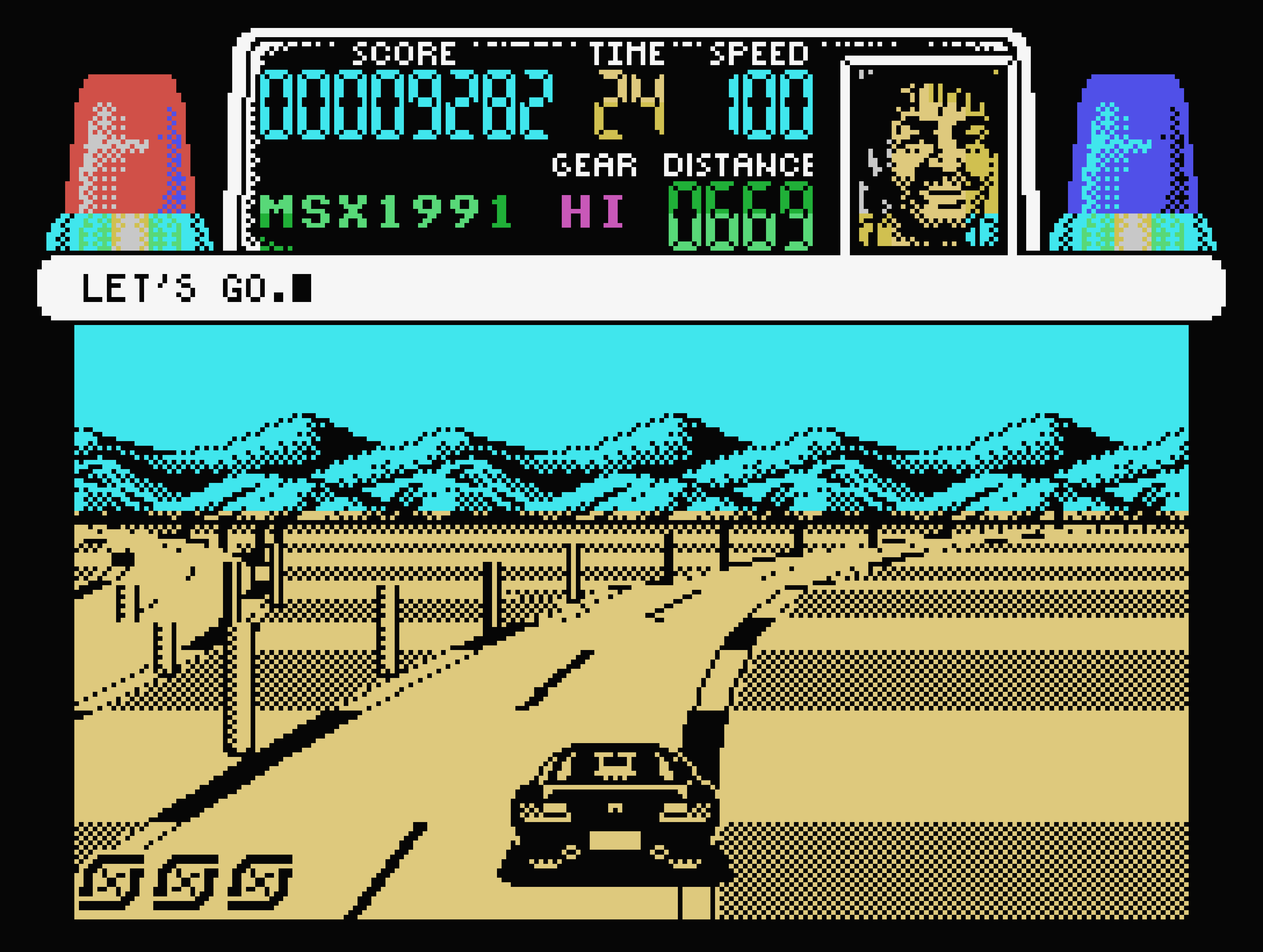 Chase HQ on the MSX.
