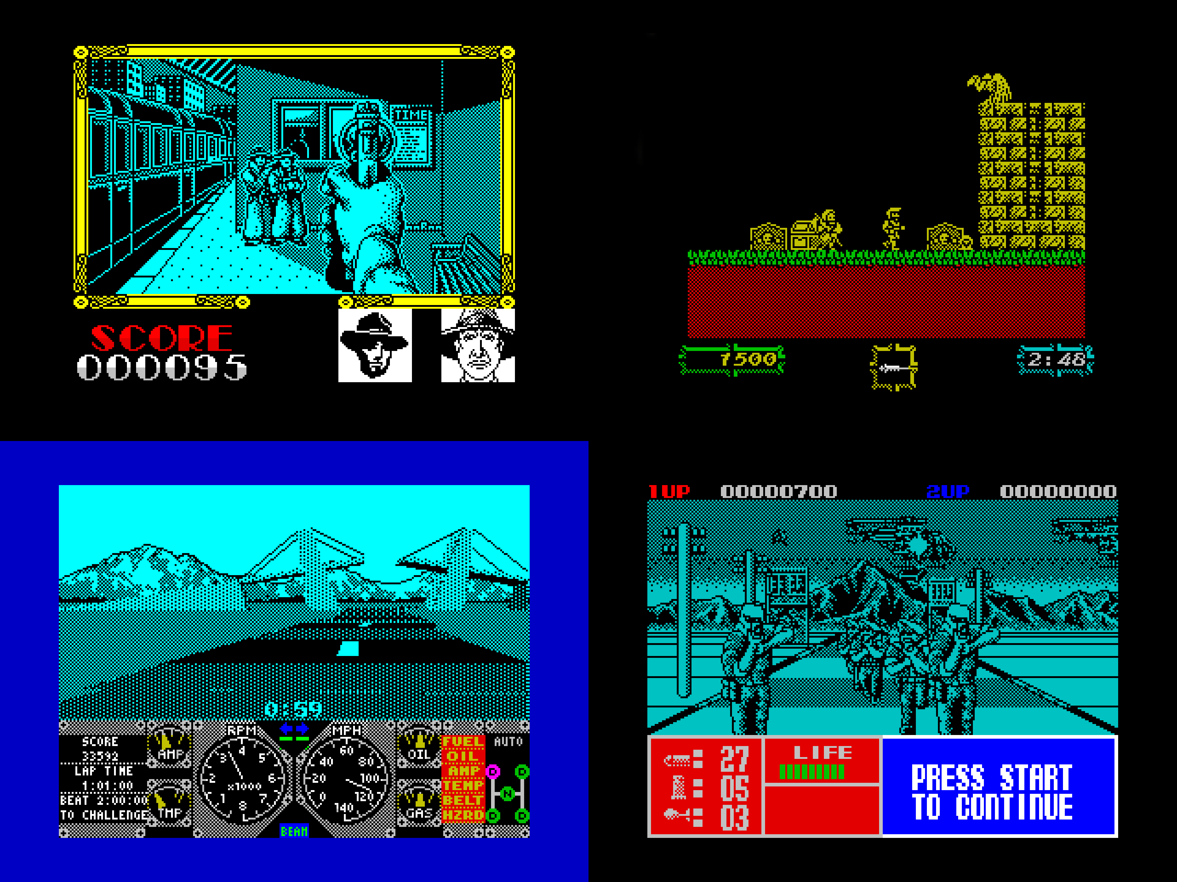 Other games presented to FatNicK during the Christmas of 1989 - but none of them were a patch on Chase HQ.