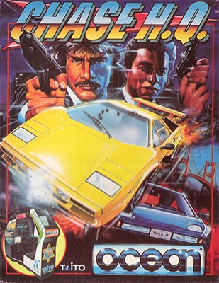 The cover art for Chase HQ on the ZX Spectrum.