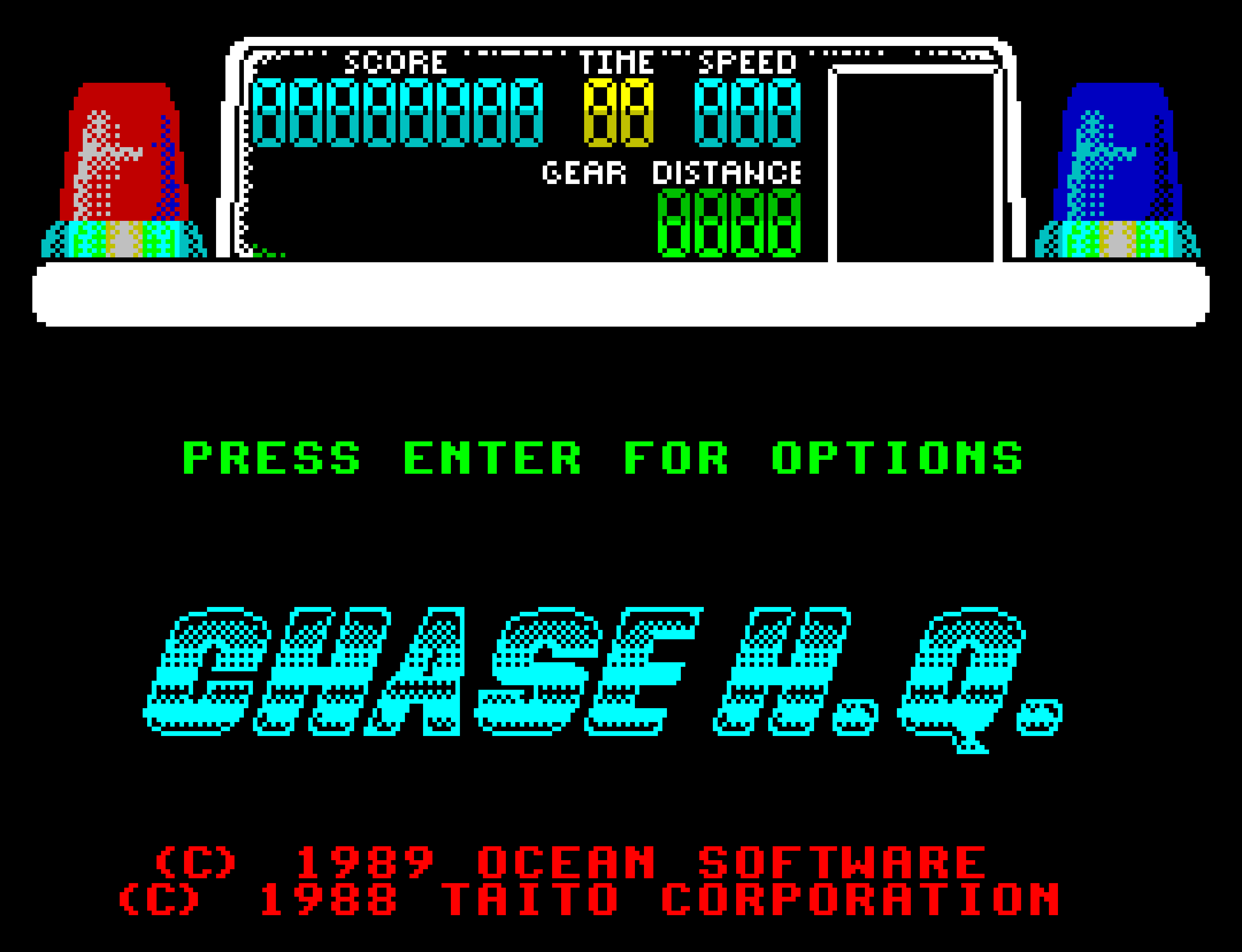 The title screen from Chase HQ.