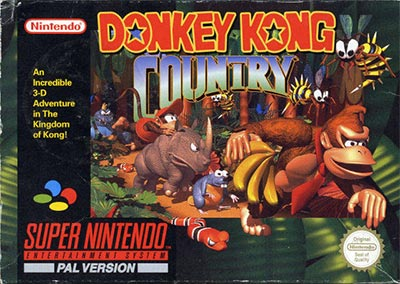 The cover art for Donkey Kong Country.