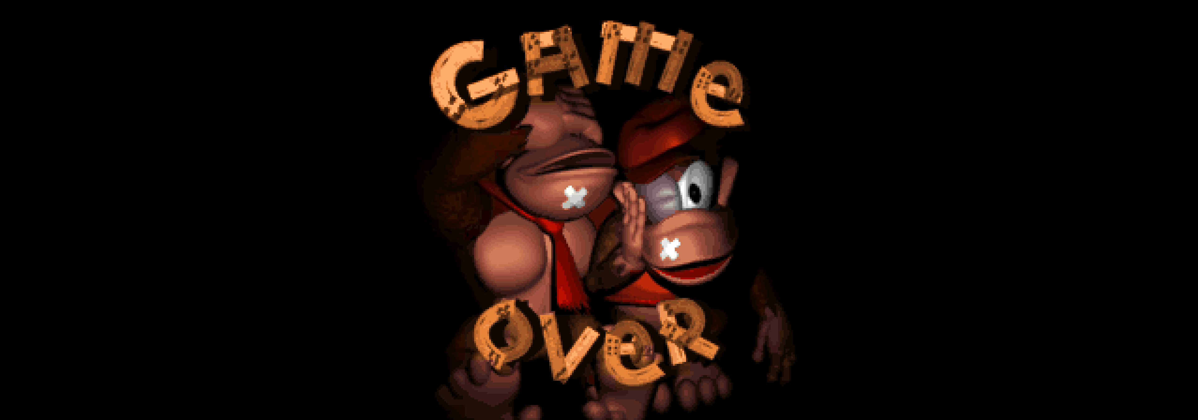 Game over in Donkey Kong Country.