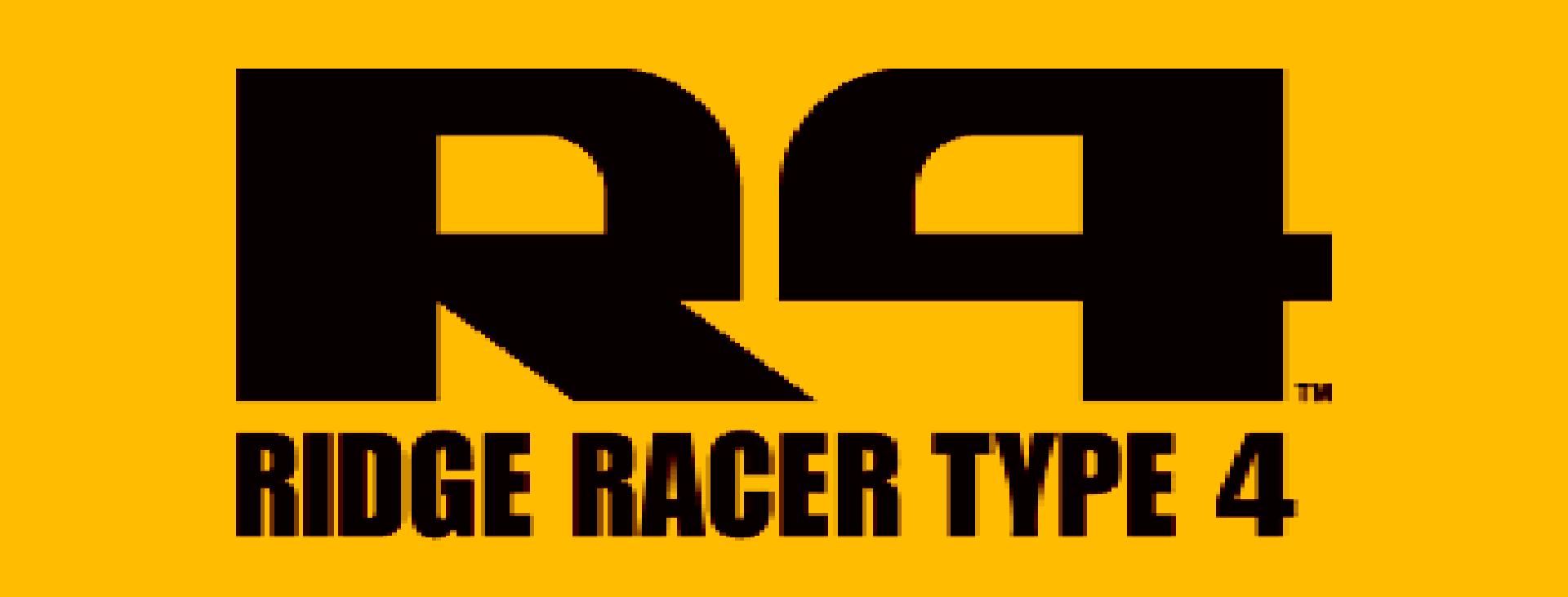 Ridge Racer Type 4 (R4) logo, a game which featured the song Naked Glow.