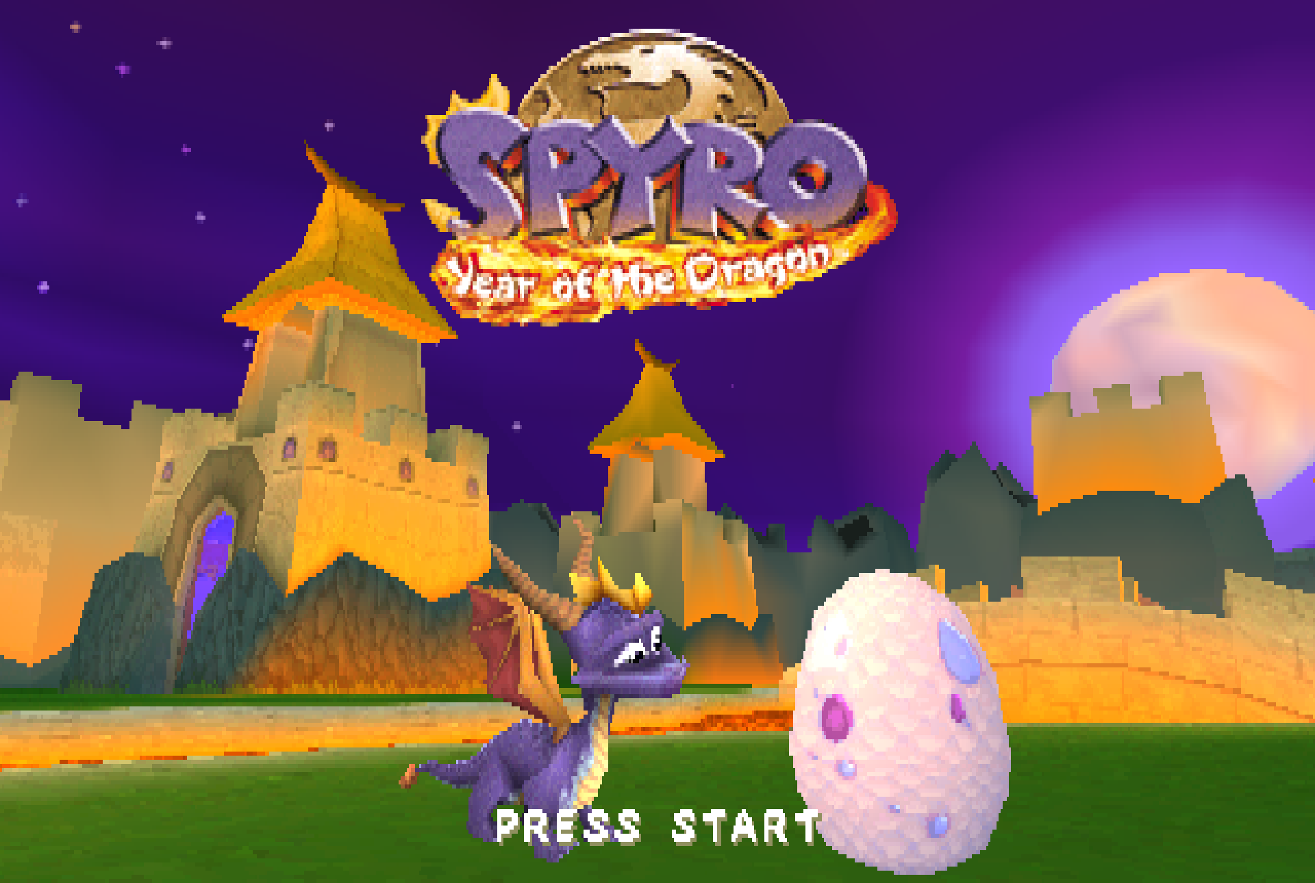The intro screen of Spyro: Year of the Dragon.