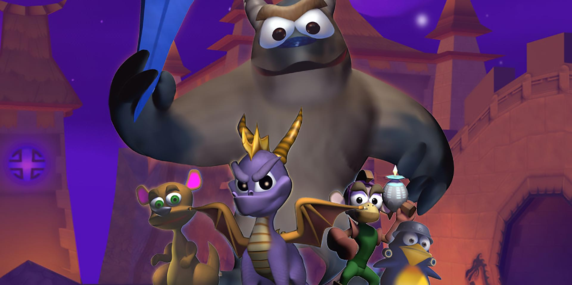 The gang from Spyro: Year of the Dragon.