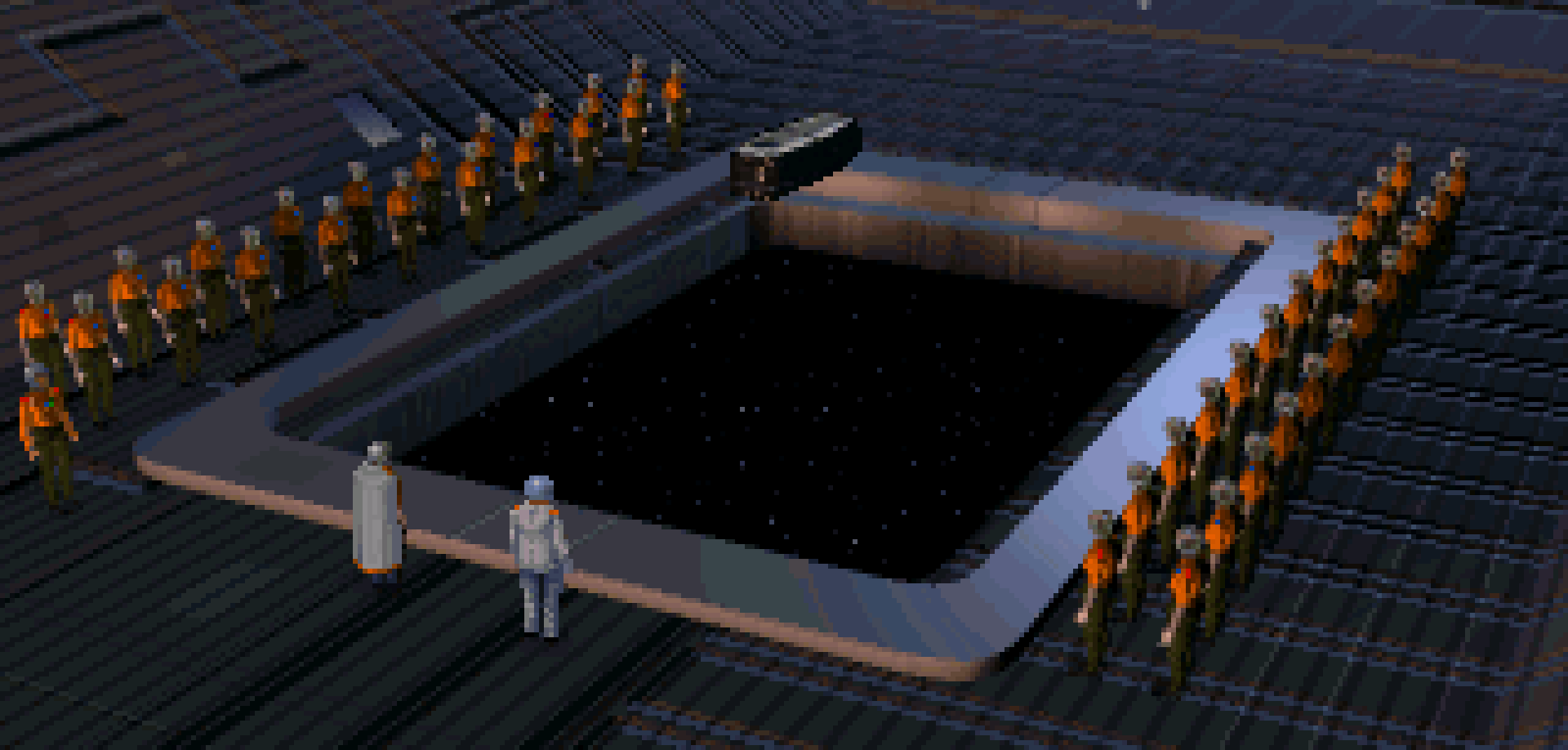 A funeral in Star Wars: X-Wing.
