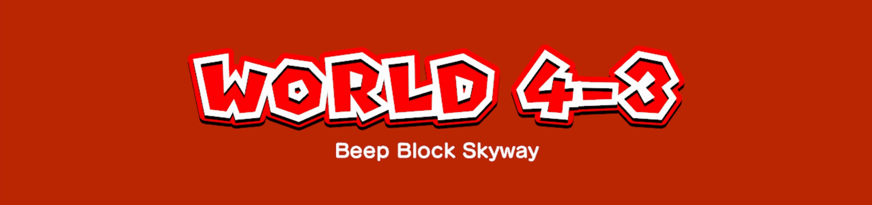 The intro screen for Beep Block Skyway.