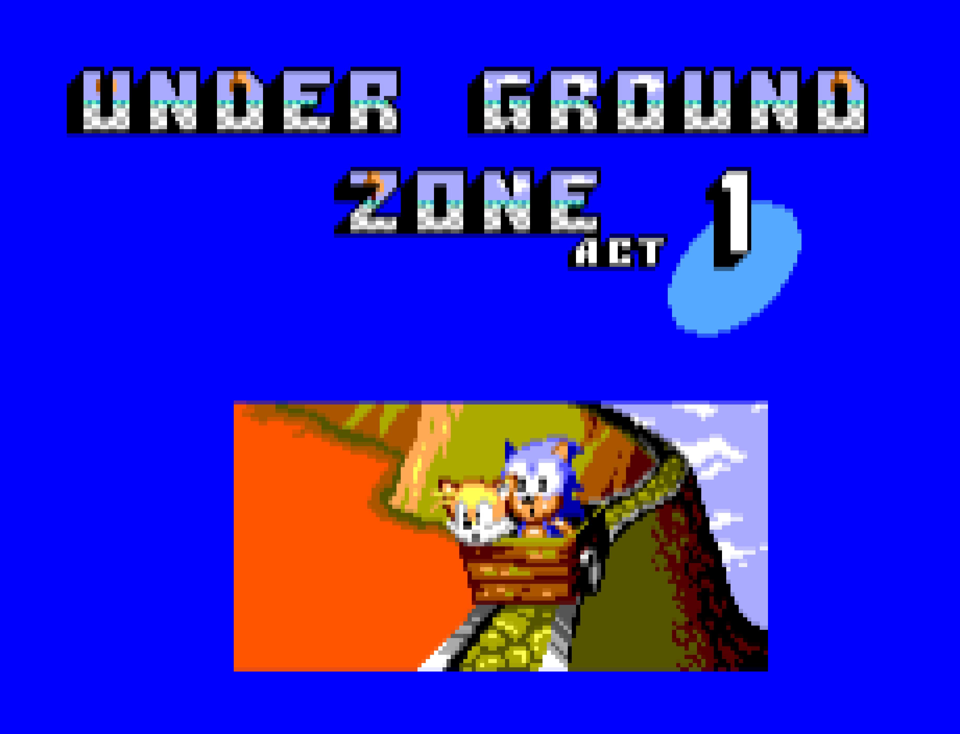 Underground Zone in Sonic the Hedgehog 2 (MS).