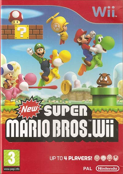 New Super Mario Bros Wii's cover.
