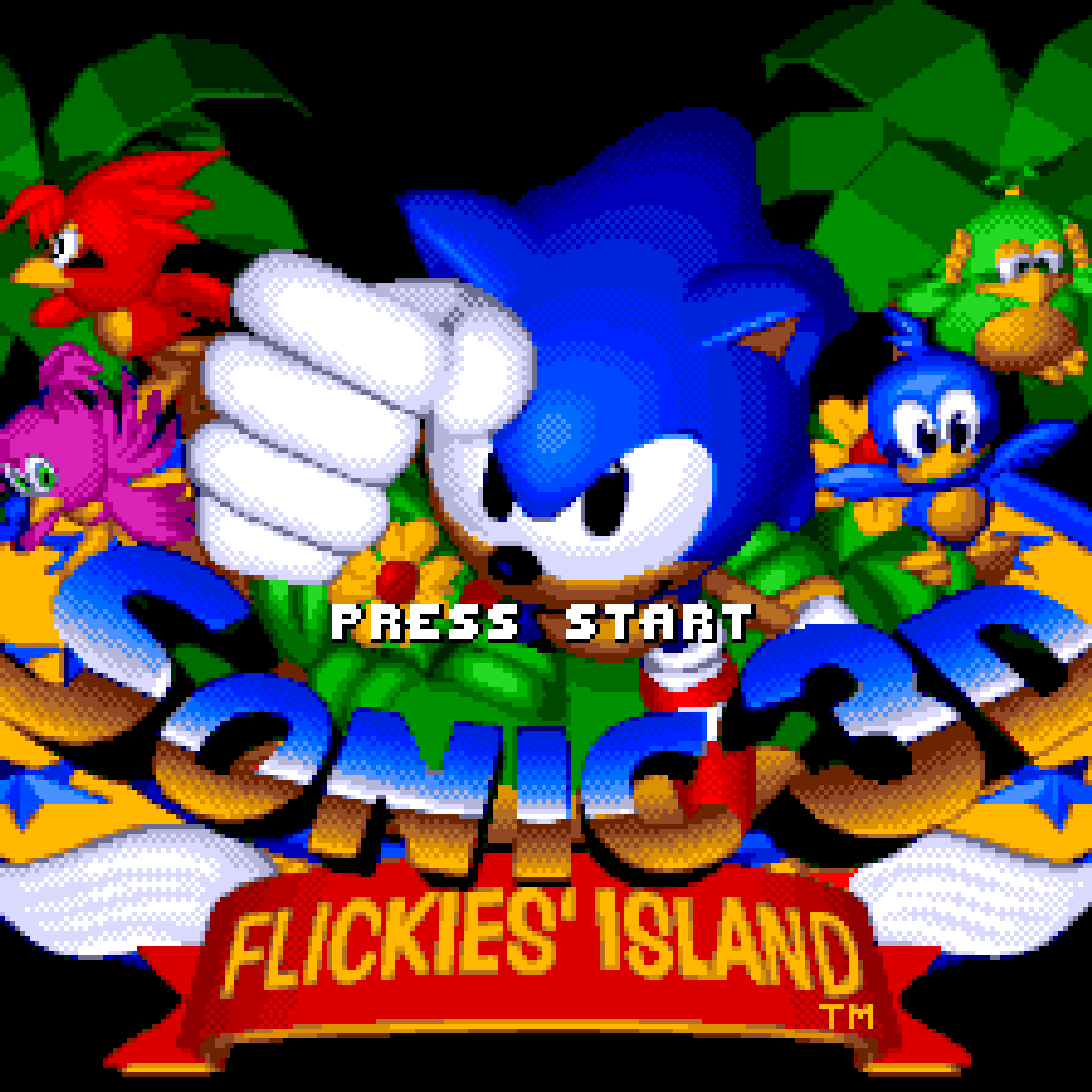 Sonic 3D's title screen in the UK.
