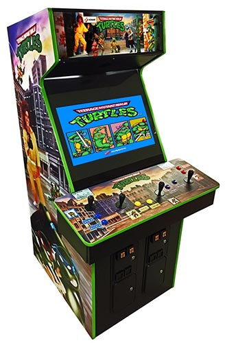 The arcade cabinet for Teenage Mutant Ninja Turtles.