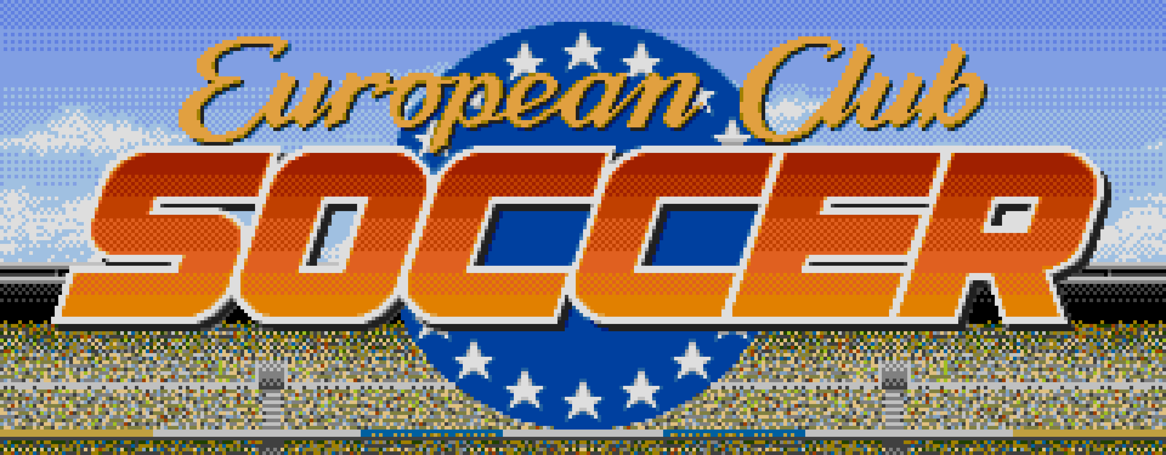 The title screen logo of European Club Soccer.