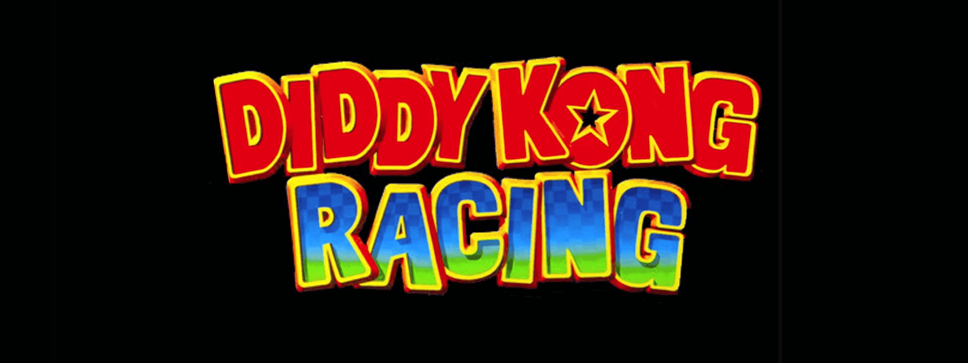 The main logo of Diddy Kong Racing.