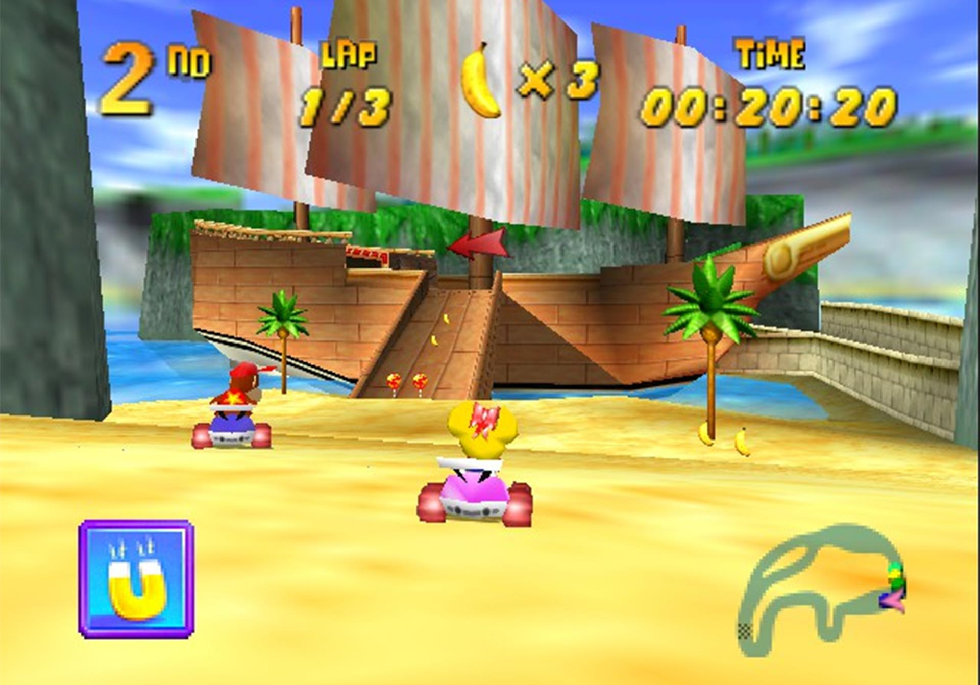 Pirate Lagoon from Diddy Kong Racing.