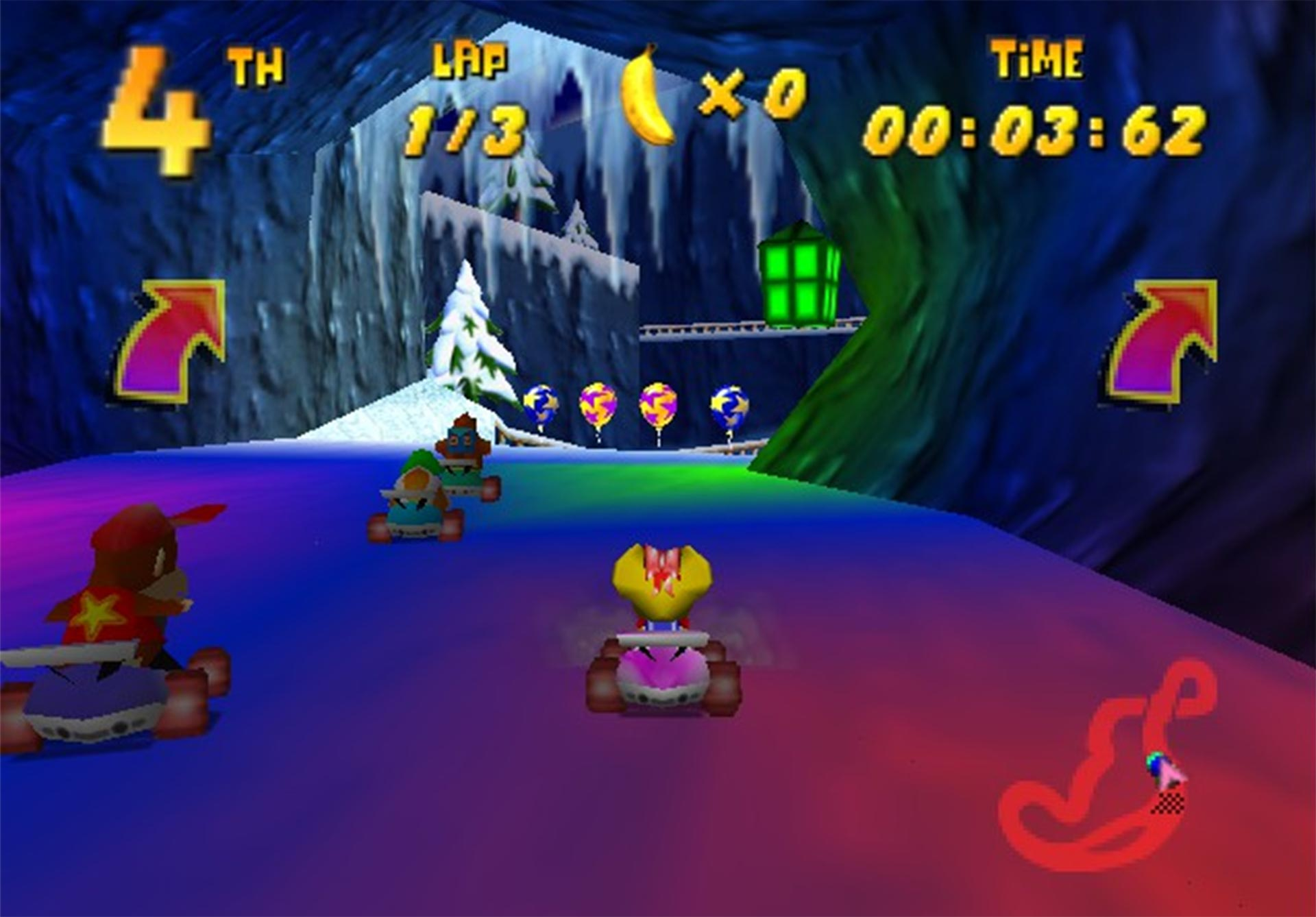 A screenshot from Diddy Kong Racing.