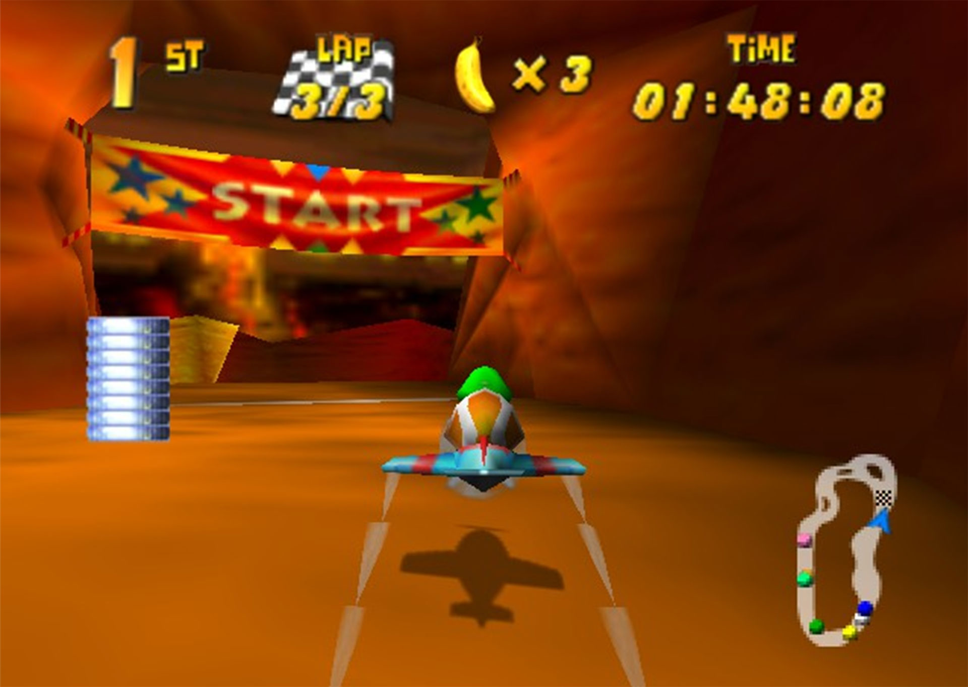 Another screenshot from Diddy Kong Racing.