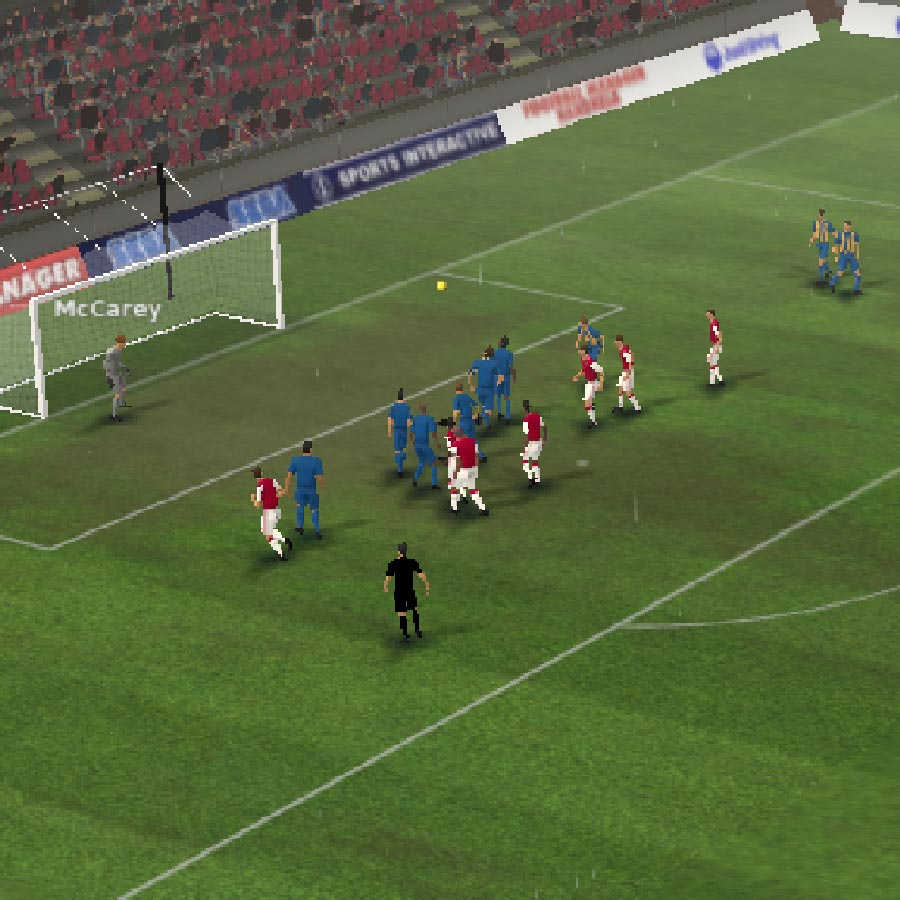 Football Manager 2012 in-game view