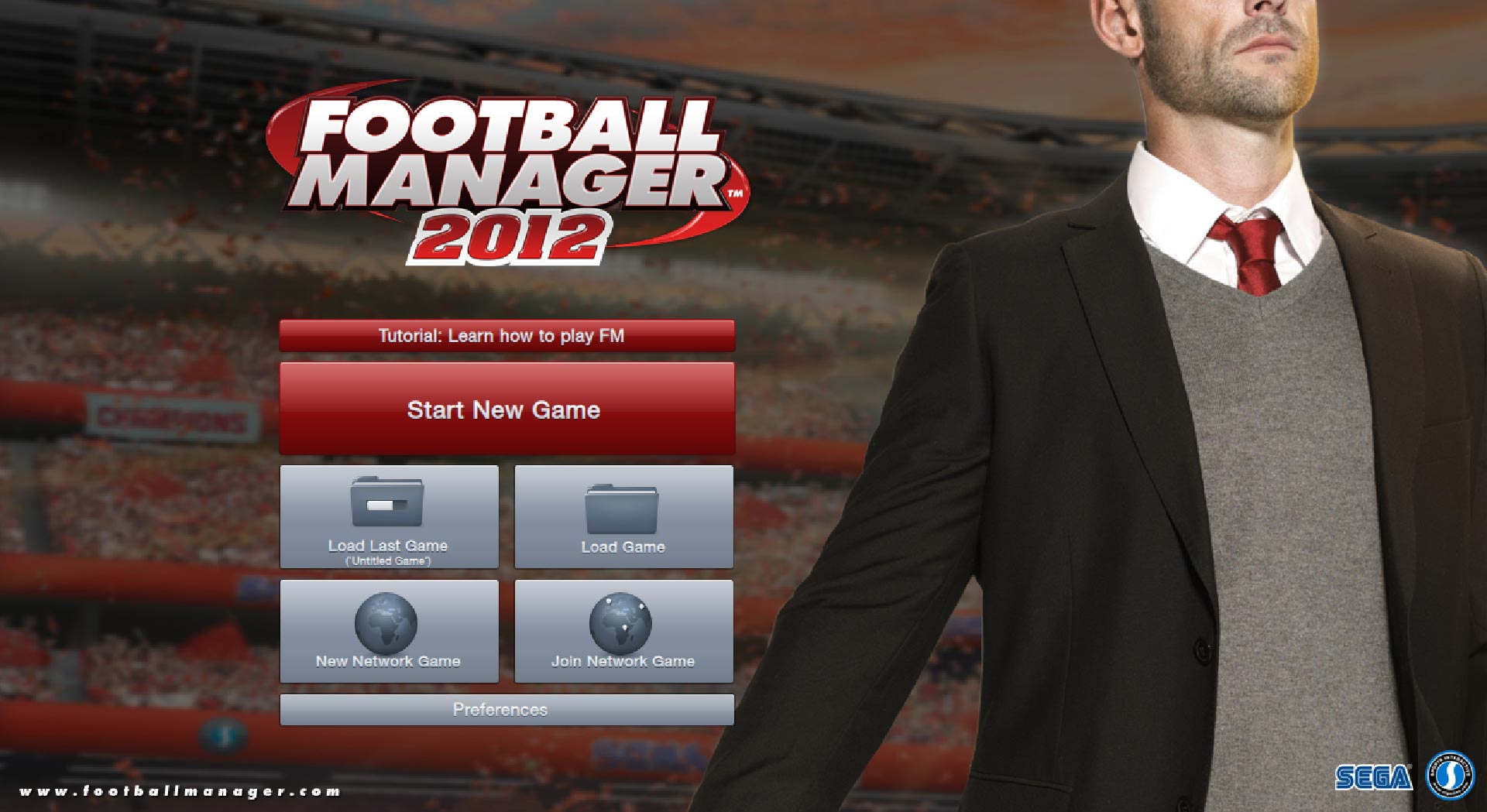 Football Manager 2012 title screen