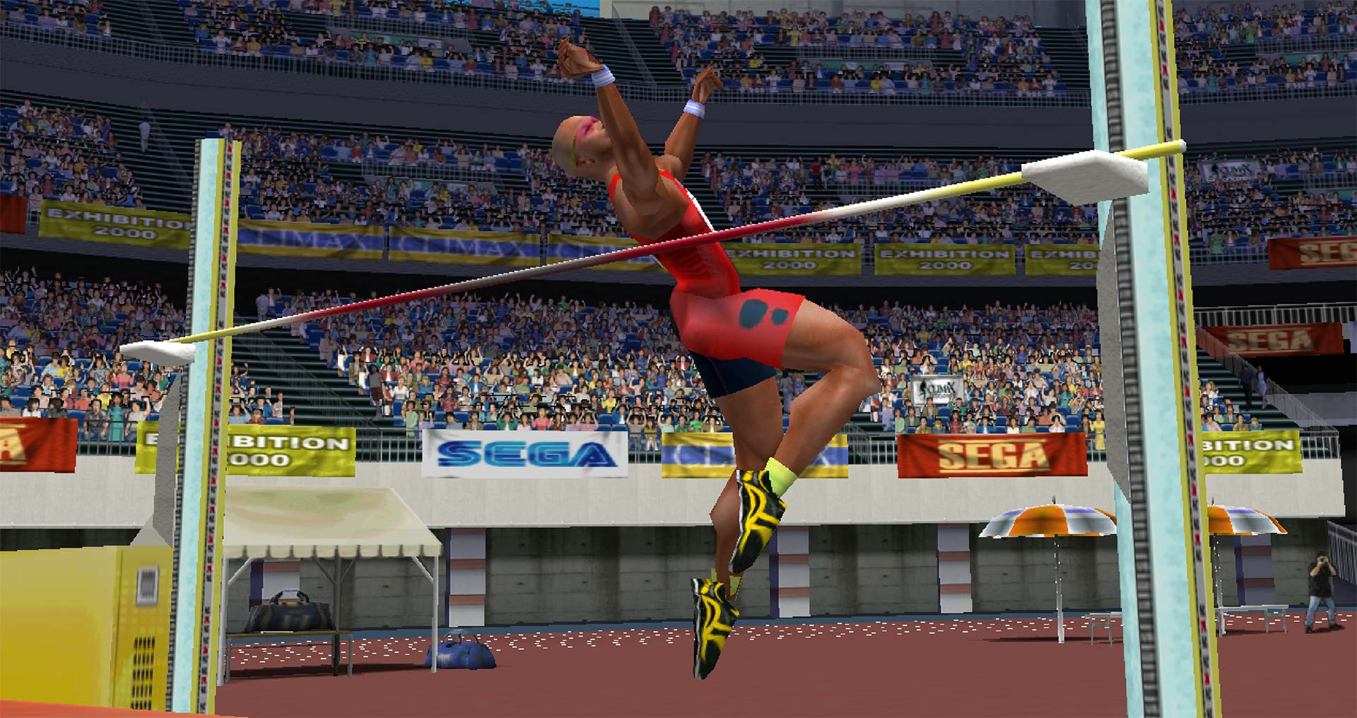Virtua Athlete 2K high jump