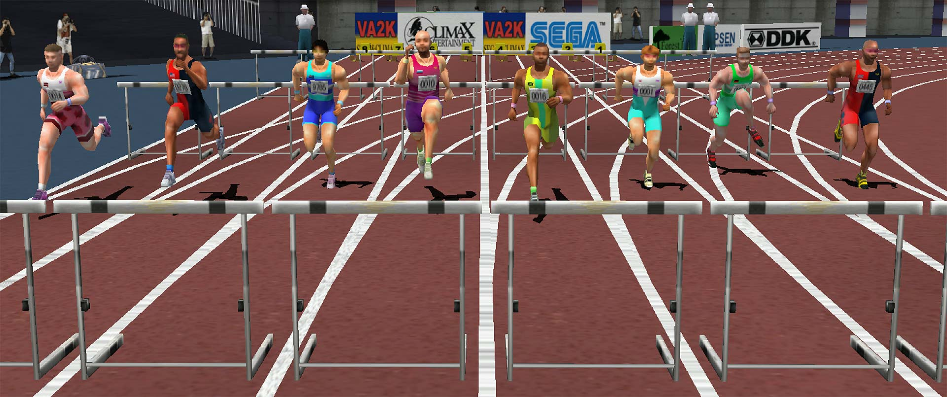 Virtua Athlete 2K hurdles