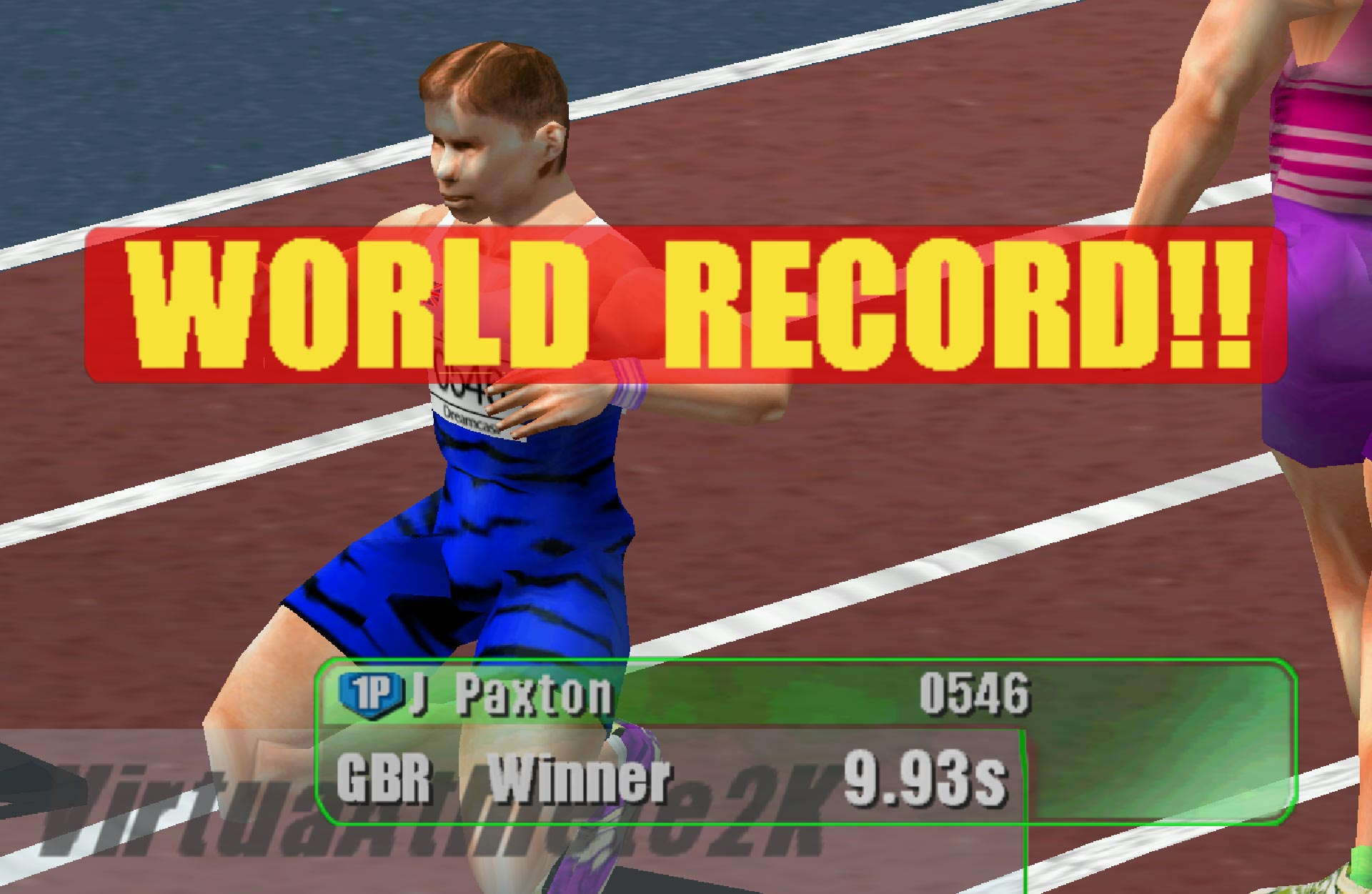 Virtua Athlete 2K world record