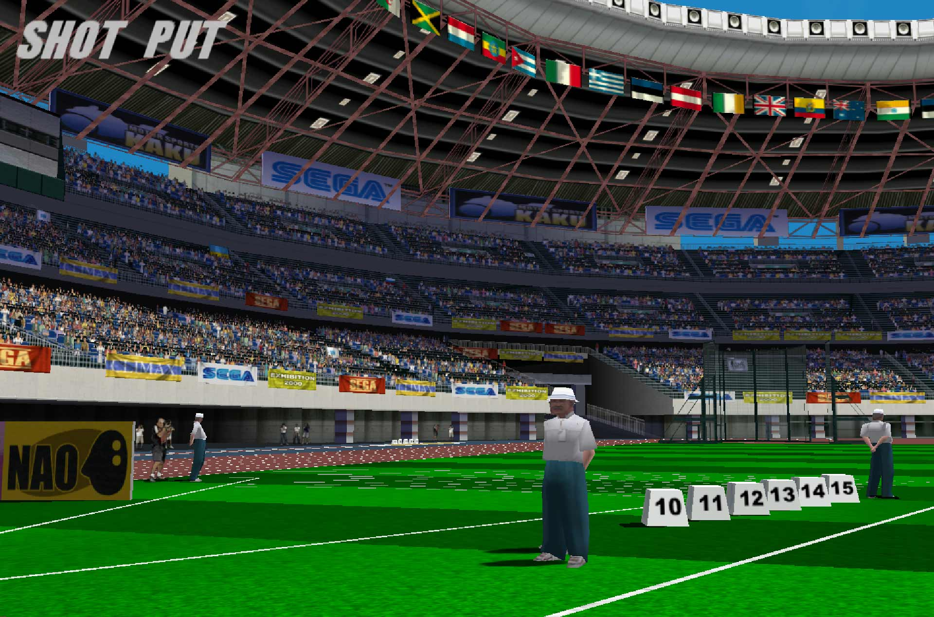 Virtua Athlete 2K stadium view