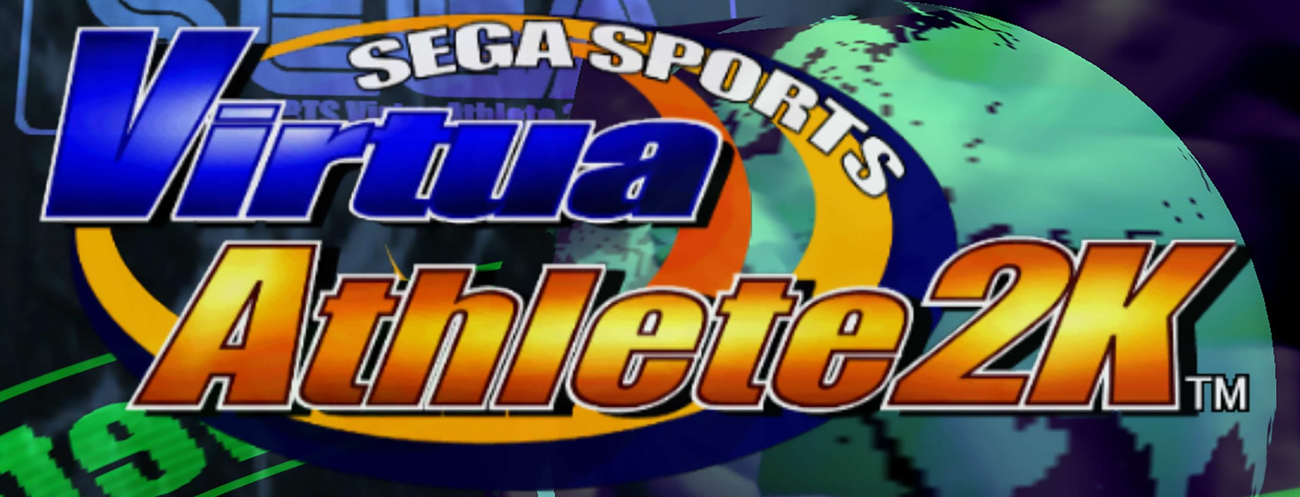 Virtua Athete 2K's title screen.