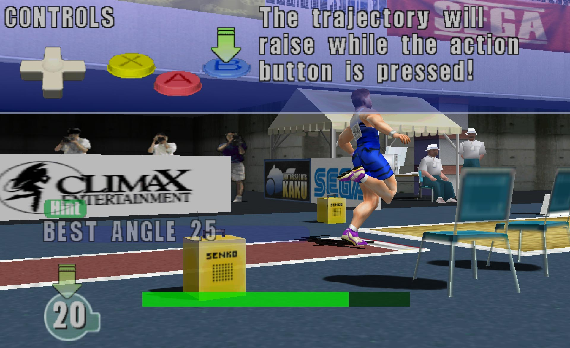Virtua Athlete 2K tutorial