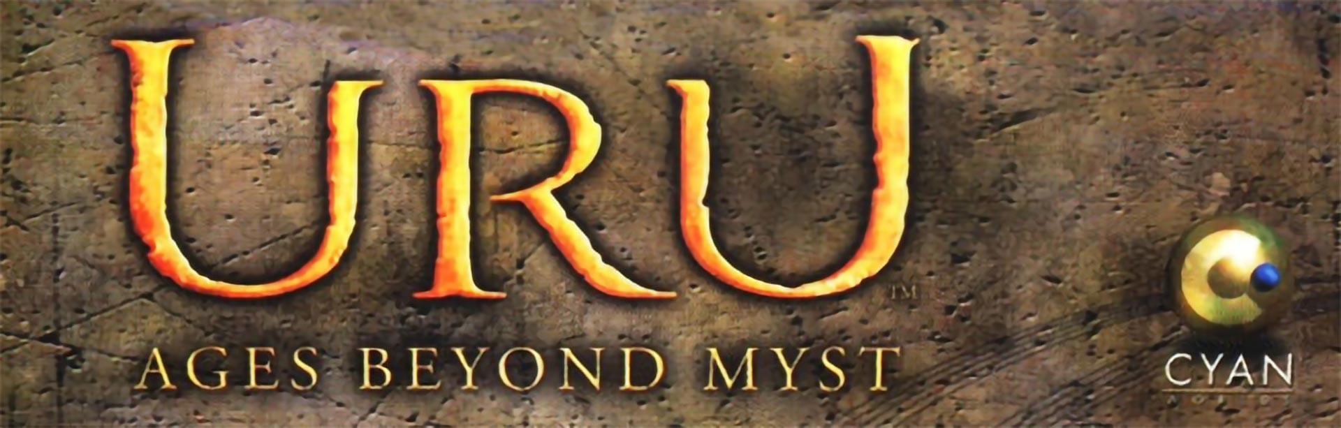 Uru Ages Beyond Myst logo, by Cyan Studios.