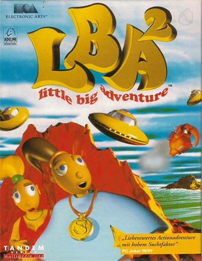 The PAL cover art for Little Big Adventure 2.