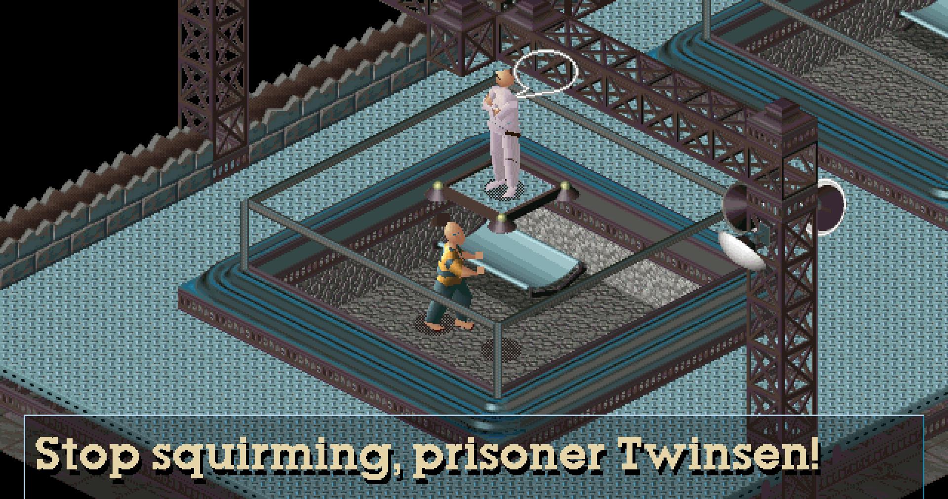 Twinsen in prison in Little Big Adventure
