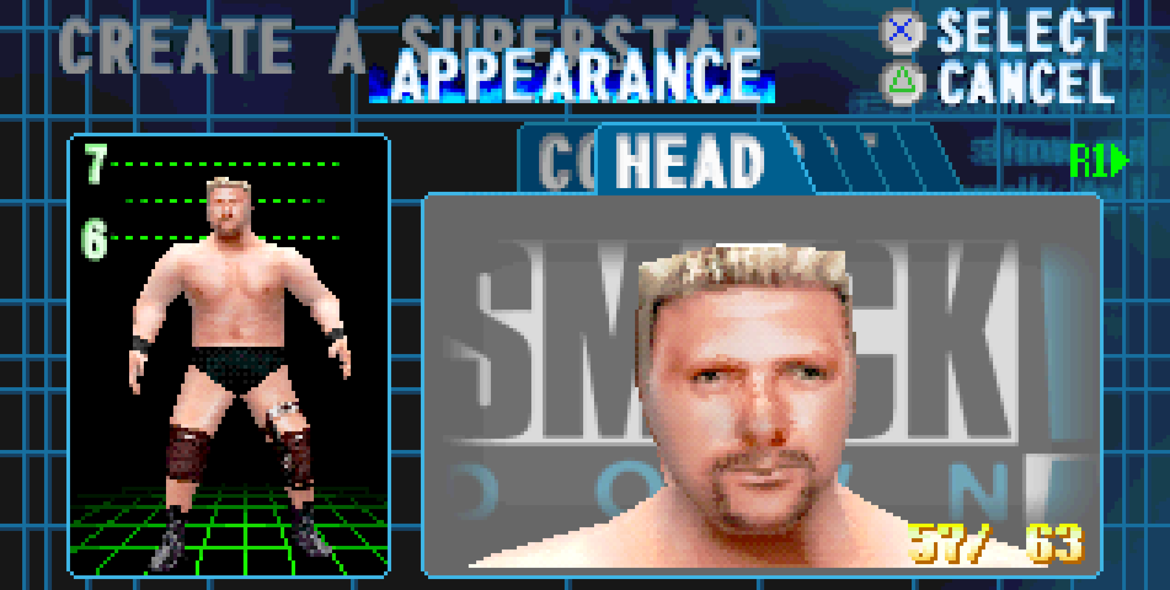 Create a Superstar in WWF Smackdown 2000