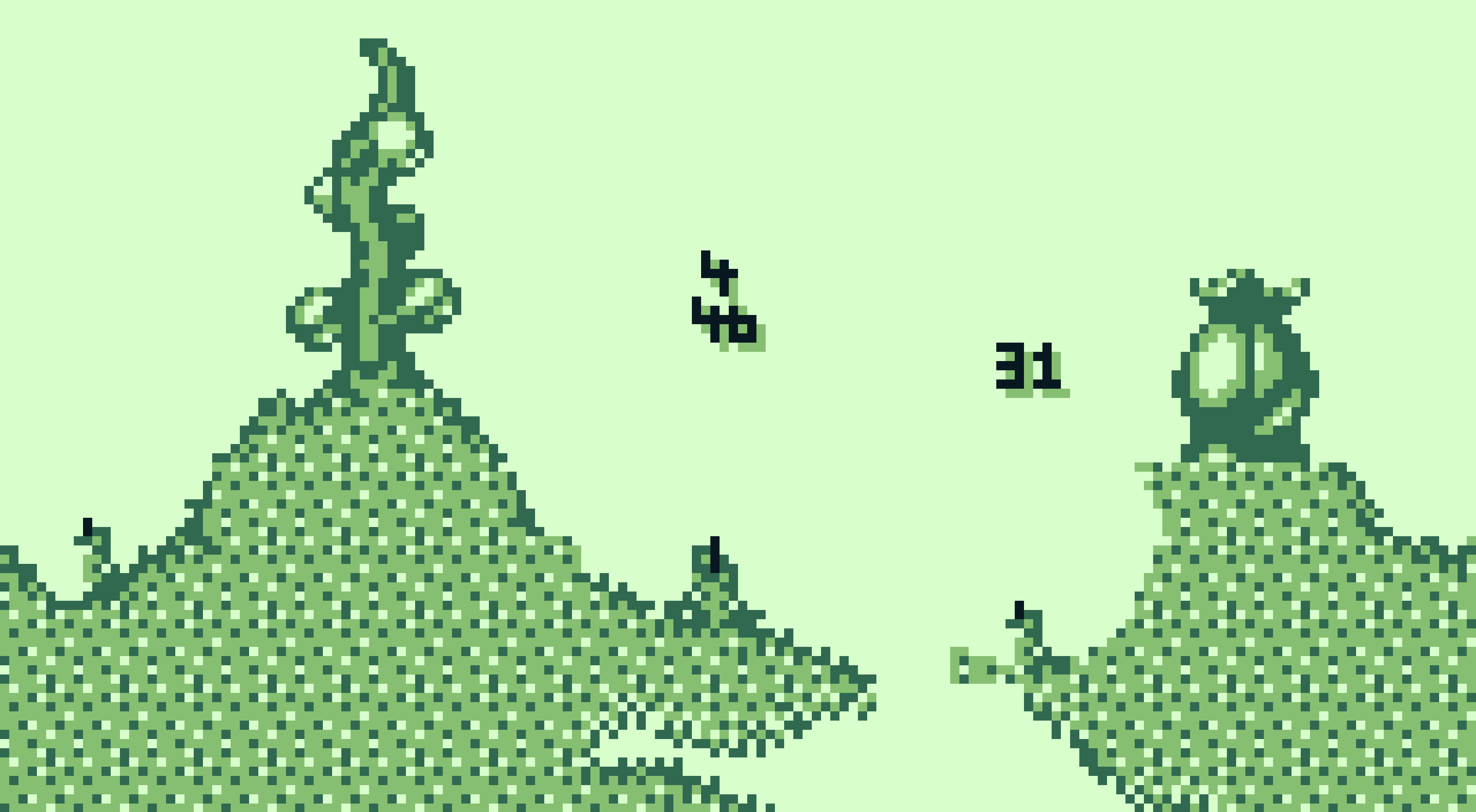 Worms - in game image on the Game Boy
