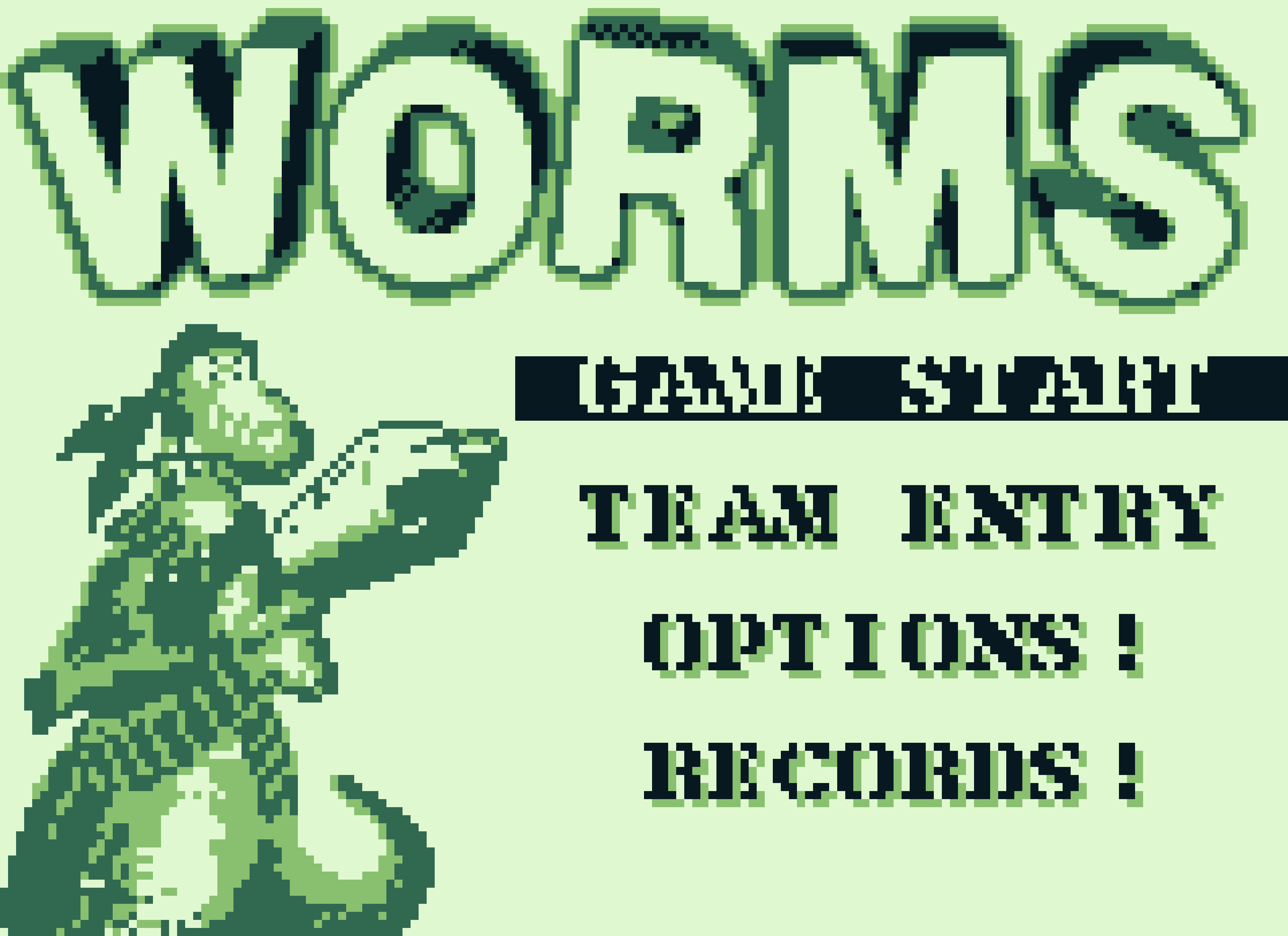 WOrms title screen on Game Boy (1995)