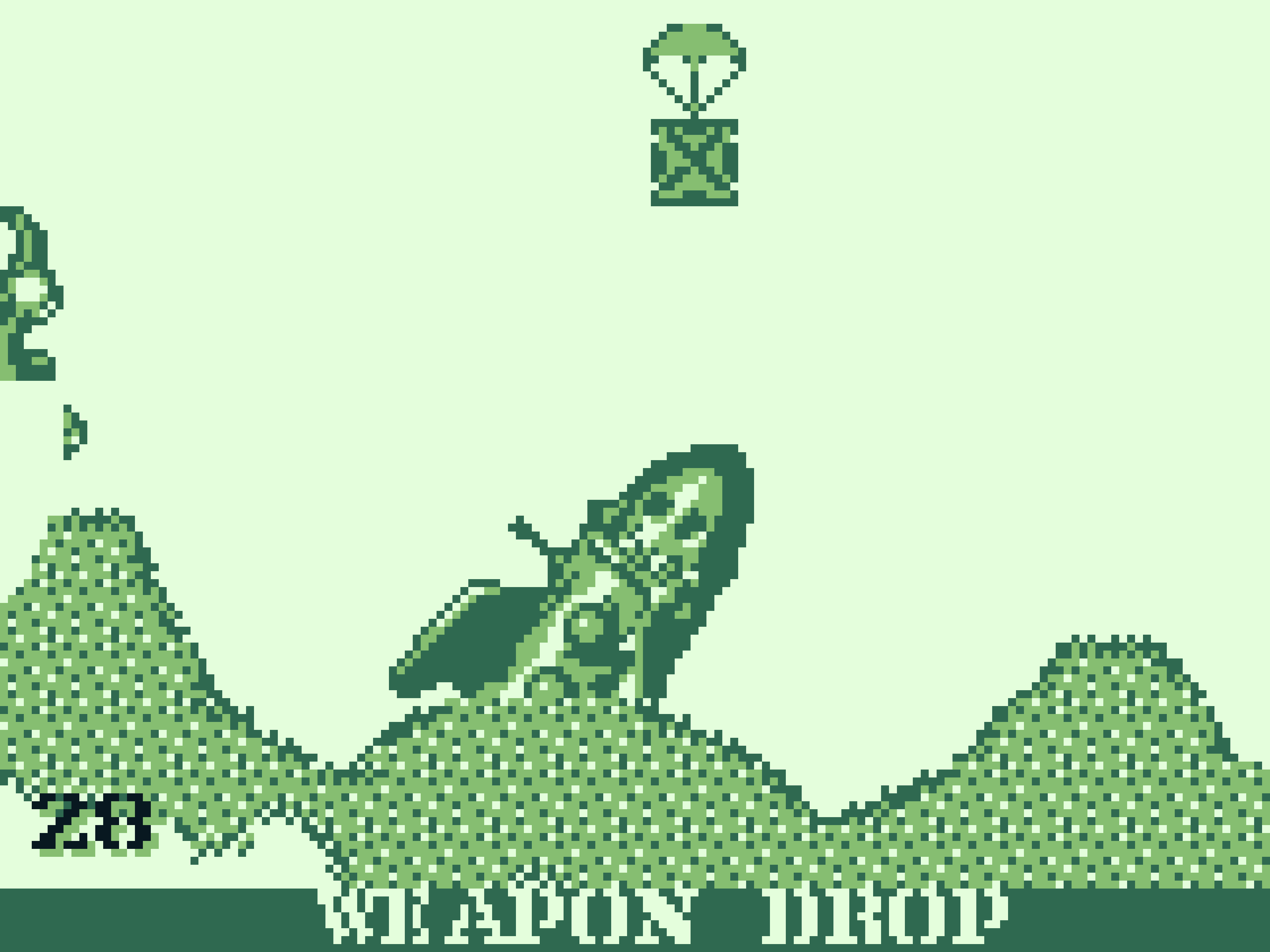 A weapon drop in Worms on the Game Boy