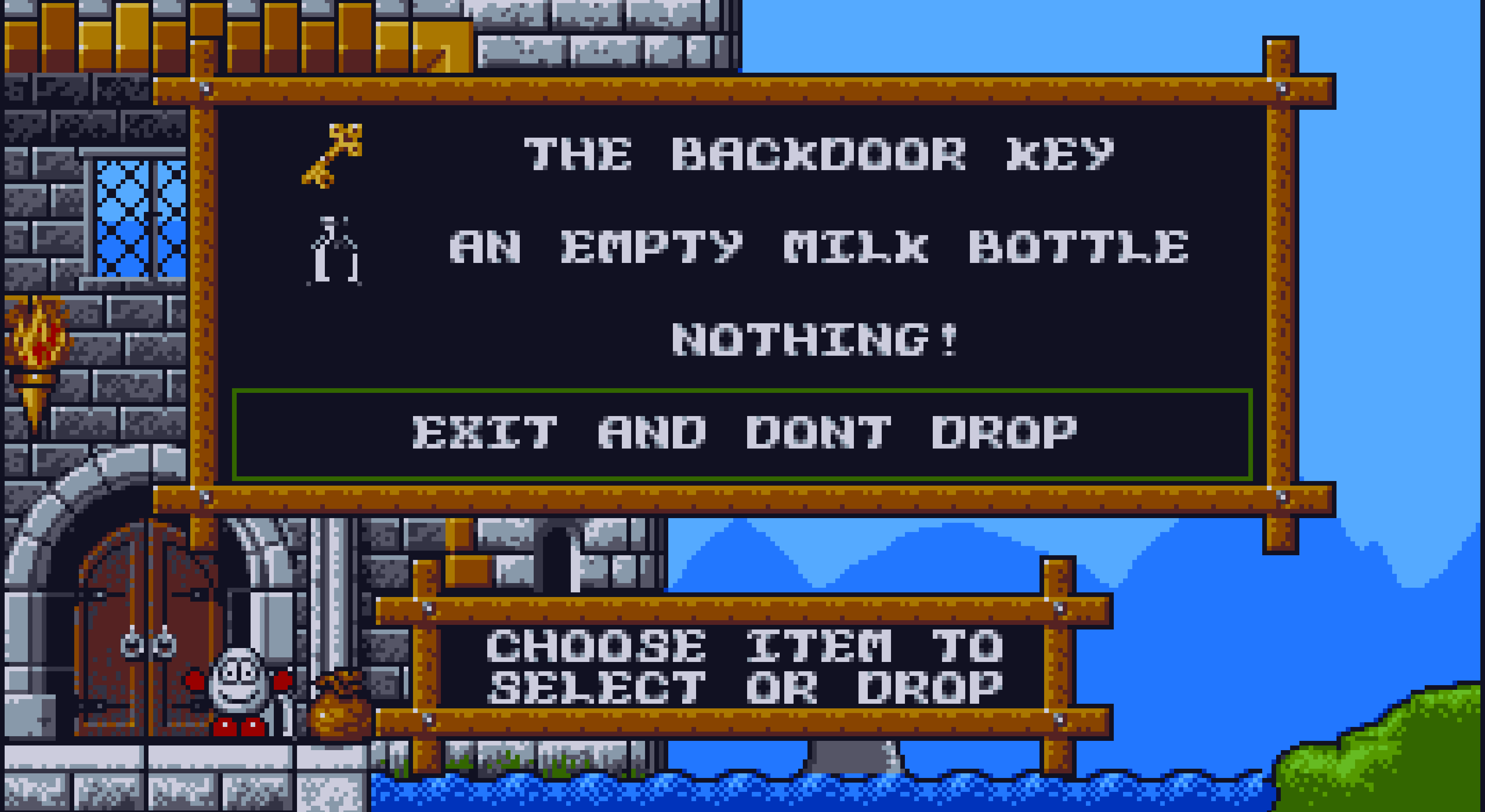 The inventory in Magicland Dizzy