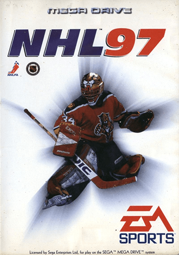 NHL 97 cover art on the Genesis and Mega Drive